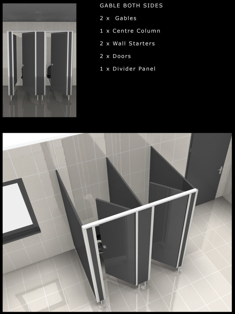Toilet Cubicles Modular Design - Flexible design options for your Bathroom